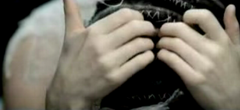 "Detail from the music video for Bjork's ""Unravel"""
