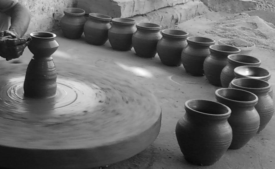 village potter close up