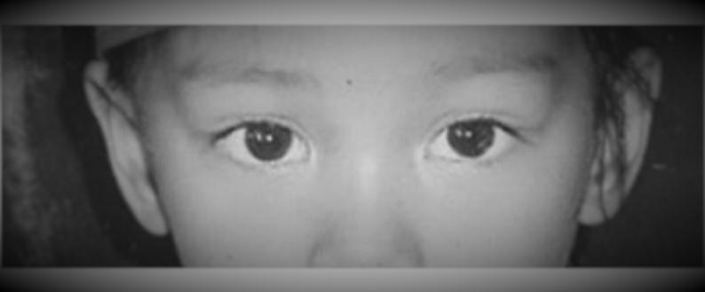 Danica May eyes bnw manipulated